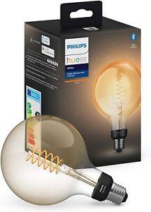 2 x Philips Hue Filament Bulb - G125 / E27 - Bluetooth - Warm White - Un-Used