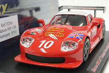 FLY E26A MARCOS LM600 AUTOSPORT LIMITED EDITION NEW 1/32 SLOT CAR IN DISPLAY