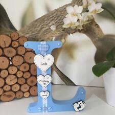 Personalizzato Autoportante Lettera in legno per neonati, Nuovo Bambino o Battesimo