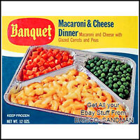 Fridge Fun Refrigerator Magnet BANQUET TV DINNER: MACARONI & CHEESE Retro Food