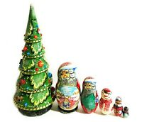"""Christmas Decoration Gift Kids Adults Nested Tree Santa Claus Snowman 12 1/4"""""""