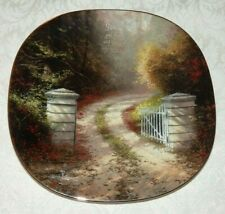 Thomas Kinkade Squared Hanging Plate Heaven On Earth In Him Was Life