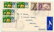 FIJI BEMANA MISSION HANDSTAMP CANCELLING STAMPS + LAMI CDS AIRMAIL 1972