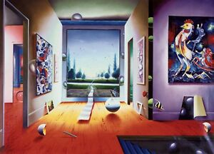 """FERJO """"ENCHANTED WORLD"""" LIMITED EDITION GICLEE ON CANVAS SIGNED & FRAMED FLOAT"""