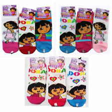6 PAIR Dora The Explorer Children's Socks Size 6-8 - Shoes Size 10.5-4 NEW