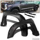 Fit For 2014-2020 Toyota Tundra Pocket Rivet Wheel Fender Flares Smooth Black