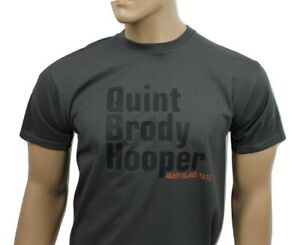 Jaws (1975) inspired mens film t-shirt - Quint Brody Hooper