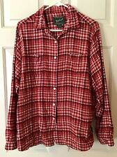 Woolrich Women's Red Plaid Flannel Shirt Size Large