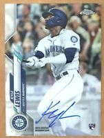 Kyle Lewis 2020 Topps Chrome On-Card Rookie AUTO Seattle Mariners Autograph RC