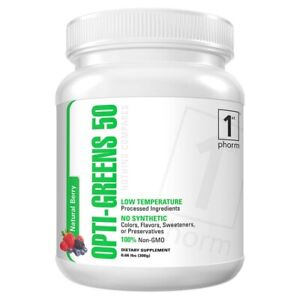 1st Phorm Opti-Greens 50 Green Superfood Complex Powder in Natural Berry