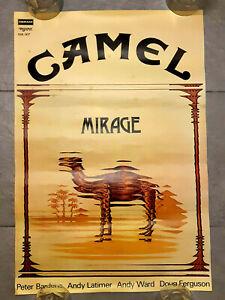 """CAMEL 'MIRAGE' ALBUM 1974 GENUINE DERAM RECORDS UK POSTER 25""""X14"""" UNUSED ROLLED"""