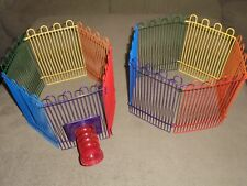 Hamster Gerbil Mouse Rainbow Color Wire Play Pen Fence Habitat with Tunnel Toy