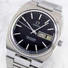 VINTAGE OMEGA SEAMASTER AUTO CAL1020 DAY&DATE BLACK DIAL MEN'S WATCH
