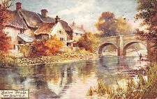 BR75097 baslow bridge near sheffield  painting postcard   uk