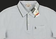 "Men's PENGUIN Pearl ""Blue"" Gray Polo Shirt Medium M NWT NEW Classic Fit Nice!"