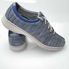 Dansko Womens Sz 42 11.5 12  Belle Blue Textured Canvas Fashion Sneaker Shoes