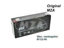 Simson AGM-batteria-tessuto non tessuto-manutenzione - 6v 3,2 Ah-CICLOMOTORE Mokick-Top Nuovo