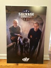 """DIY Channel """"SALVAGE DAWGS"""" Mike Whiteside, Ted Ayers - Rare Promotional Poster"""