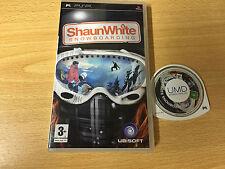PSP : shaun white snowboarding