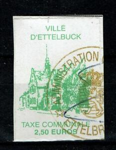 Luxembourg Revenue Stamp Fiscal Fiscaux Municipal Local Communale Ettelbuck