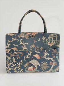 VTG Mid Century 1960's MARGARET SMITH Asian Pattern Hand Bag Satchel