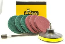 8 Pc Drill Attachment Scouring Pads Kit Cleaning Ovens, Stoves, Pots, Pans