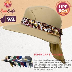 Australian Made Ladies Hat Newcastle Hats Super Cap Hat Standard UPF 50+ Sun Hat