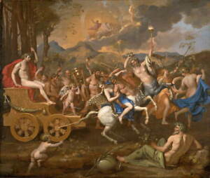Nicolas Poussin The Triumph of Bacchus Giclee Paper Print Poster Reproduction