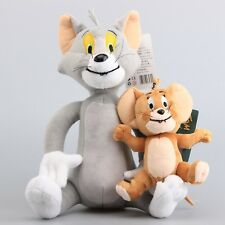 TOM AND JERRY SOFT PLUSH DOLL TOY SIZE TOM 30CM JERRY 15CM Cat & Mouse