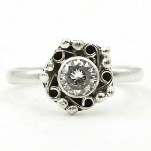White Topaz 925 Solid Sterling Silver Ring Jewelry Sz 7 K5-1