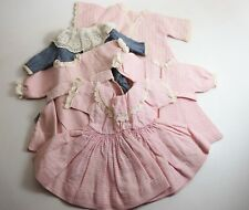 Lot Of Five Handmade Antique Dresses For Bisque Doll