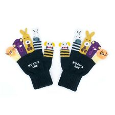Promo Kidorable Kids Knitted Noah's Ark Gloves Childrens Childs Animal Knitwear