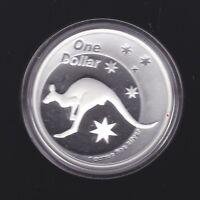 2005 Australia $1 Ounce 1oz Silver Proof Kangaroo Coin