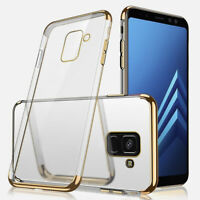 Clear Back Plating Bumper Soft TPU Case Cover For Samsung Galaxy S8 S9 S10 Plus