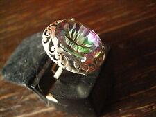 traumhaft schöner Unikat Ring Mystik Topas Mystic Topaz Durchbruch 925er Silber