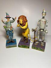Jim Shore - Wizard Of Oz Lot Of 3-Lion, Tin Man And Scarecrow