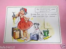 7566 CARTE POSTALE AU TELEPHONE avec GERMAINE BOURET je veux bien que tu me memm