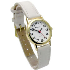 Ravel Ladies Super-Clear Easy Read Quartz Watch White Strap R0105.34.2A