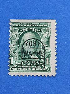Franklin,Stamp 1902 FORT WAYNE INDIANA - RARE TOMBSTONE CANCEL