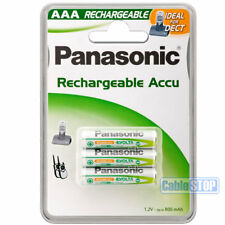 PANASONIC 750mAh Pack of 3 AAA Rechargeable DECT HOME CORDLESS PHONE Batteries