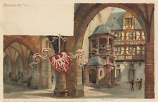 FRANKFURT Romer-Hall & Hof Deutschland 1890-07 Postkarte L Klement 114