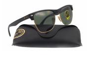 Ray-Ban Clubmaster Sunglasses RB4175 G-15 Lens 57mm Oversized Black / Gold Frame