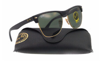 Ray-Ban Clubmaster Sunglasses RB4175 G-15 Lens 57mm Oversized Black / Gold Frame
