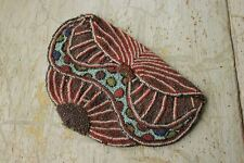 Beaded Purse or Clutch Antique vintage French beautiful shape bead pattern bag