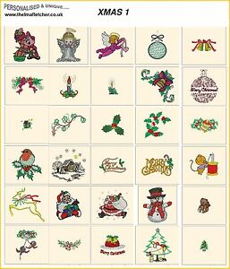 XMAS 1. CD or USB machine embroidery designs files most formats pes etc holidays