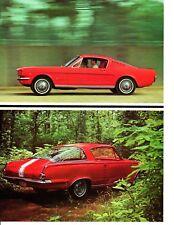1965 BARRACUDA 273/235 - MUSTANG 289/271 ~ ORIGINAL 8-PG ROAD TEST / ARTICLE /AD