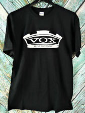 OFFICIAL New! VOX Amplifications LTD Black Logo Tee T- Shirt LARGE