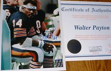 CHICAGO BEARS WALTER PAYTON AUTOGRAPHED SIGNED 8X10 Vintage PHOTO WPA Authentic