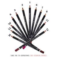 12 Pcs/Set Pen Makeup Lip Pencil Waterproof Lips Cosmetics Lipstick Lipliner