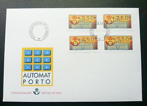 [SJ] Sweden 1992 ATM (frama label FDC)